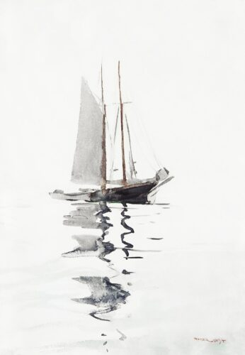 a water color painting boat